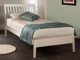 White Curved Shaker Bed
