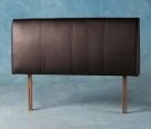 Espresso Faux Leather Headboard