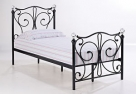 Single Black Crystal Bed Frame